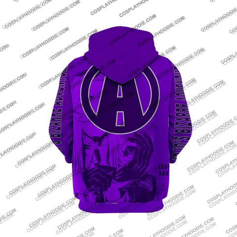Image of Jojos Bizzare Adventure Golden Wind Leone Abbacchio Purple Cosplay Hoodie Jacket