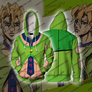 Jojos Bizzare Adventure Golden Wind Pannacotta Fugo Cosplay Hoodie Jacket