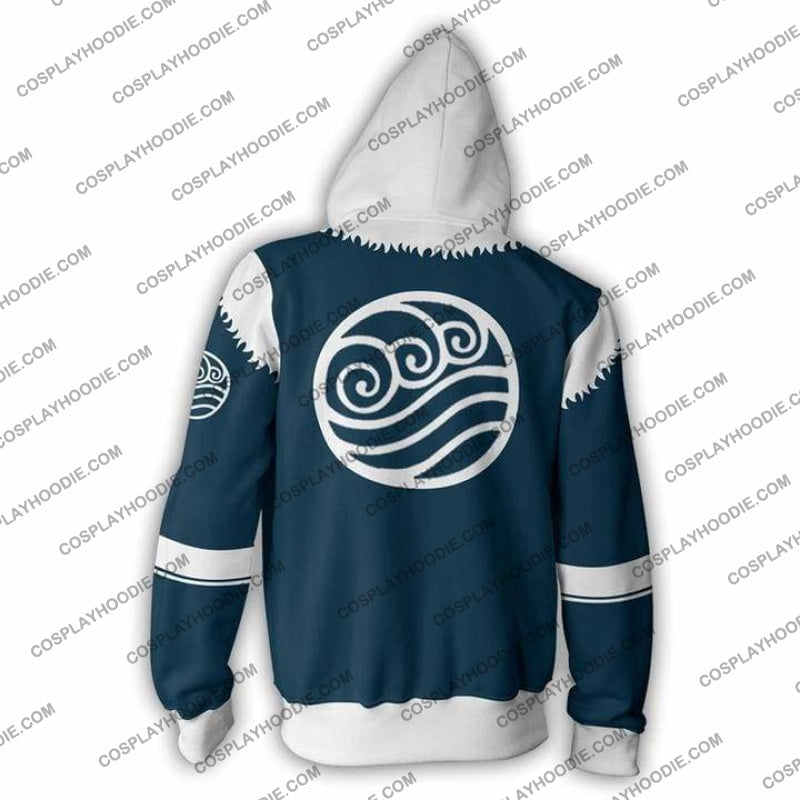 The Legend Of Korra Zip Up Hoodie Jacket Cosplay