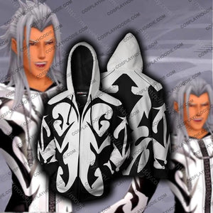 Kingdom Hearts Xemnas Hoodie Cosplay Jacket Zip Up