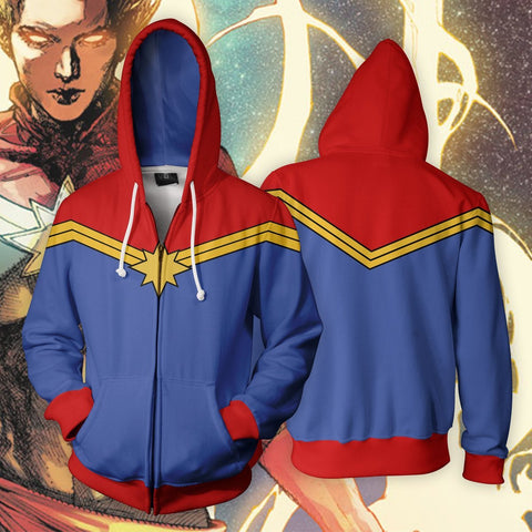 Image of Marvel Comics - Captain Marvel Classic Cosplay Hoodie Jacket