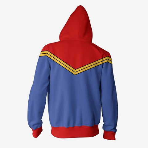 Marvel Comics - Captain Marvel Classic Cosplay Hoodie Jacket