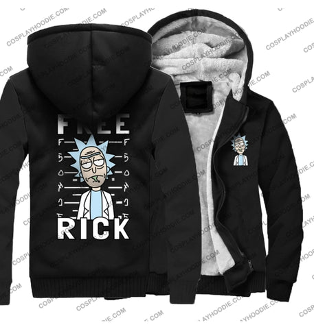 Rick And Morty Print Fleece Winter Hoodie Jacket Color3 / M