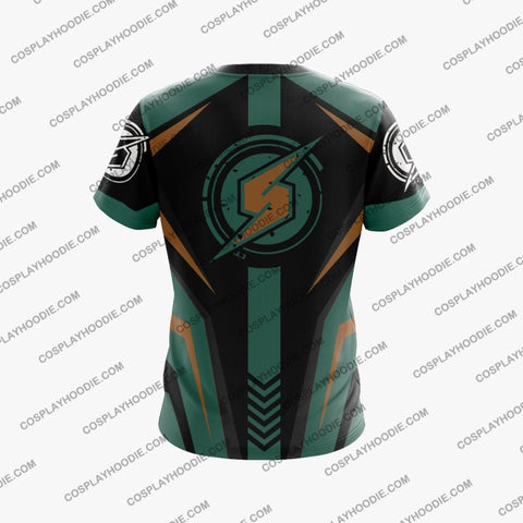 Image of Metroid Samus Aran Green Cosplay T-Shirt T-Shirt
