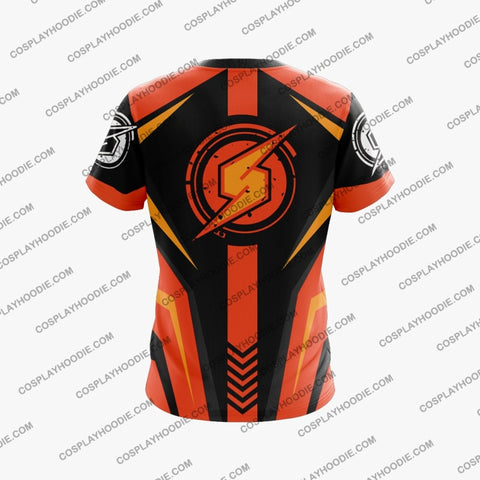 Metroid Samus Aran Red And Orange Cosplay T-Shirt T-Shirt