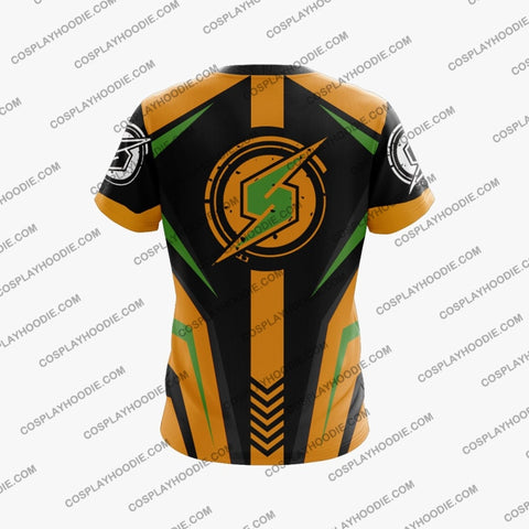 Metroid Samus Aran Yellow Cosplay T-Shirt T-Shirt