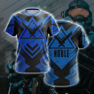 Noble Team Halo Blue T-Shirt T-Shirt