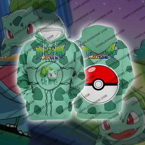 Pokemon Bulbasaur Cosplay Hoodie Jacket