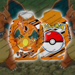 Pokemon Charizard Cosplay Hoodie Jacket