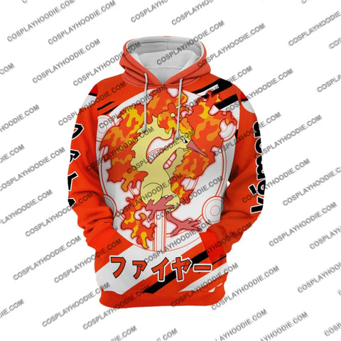 Image of Pokemon Moltres Cosplay Hoodie Jacket