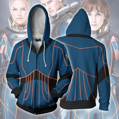 Image of Alien - Alien Covenant Prometheus Crew Cosplay Hoodie Jacket