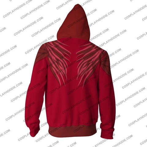 Image of The Hunger Games Mockingjay Katniss Everdeen (Red) Hoodie Cosplay Jacket Zip Up