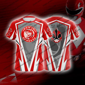 Mighty Morphin Power Rangers Red Cosplay T-Shirt