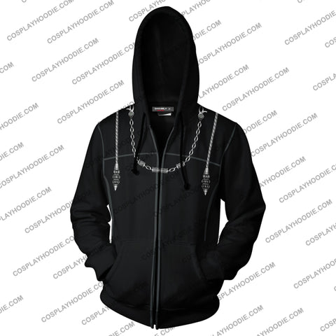 Image of Kingdom Hearts Iii Roxas Hoodie Cosplay Jacket Zip Up