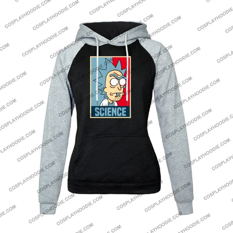 Science Rick And Morty Funny Print Womens Hoodie Color2 / S
