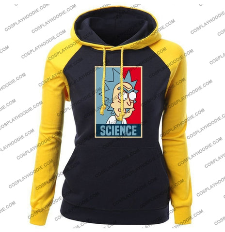 Science Rick And Morty Funny Print Womens Hoodie Color4 / S