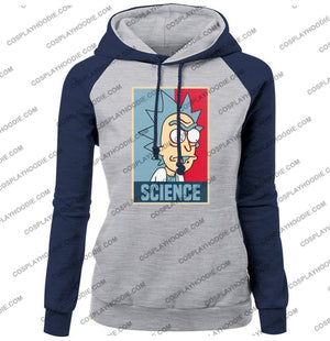 Science Rick And Morty Funny Print Womens Hoodie Color1 / S