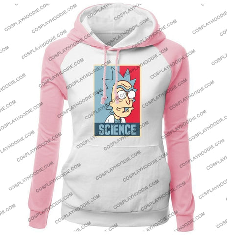 Science Rick And Morty Funny Print Womens Hoodie Color5 / S