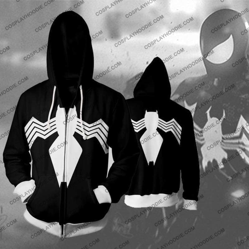 Spiderman Symbiote Zip Up Hoodie Jacket Cosplay