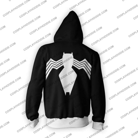 Image of Spiderman Symbiote Zip Up Hoodie Jacket Cosplay
