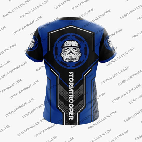 Image of Star Wars Stormtrooper 1977 Blue T-Shirt T-Shirt