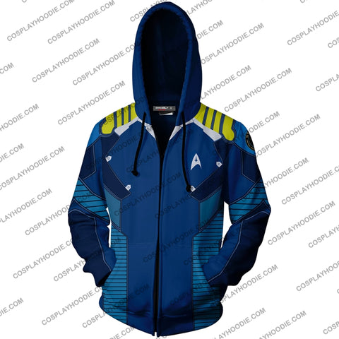 Star Trek Beyond James T. Kirk Hoodie Cosplay Jacket Zip Up