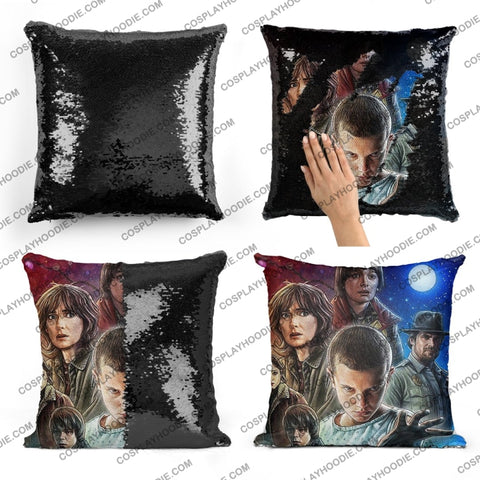 Stranger Things Sequin Pillow S1