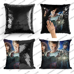 Stranger Things Sequin Pillow S2