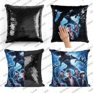 Stranger Things Sequin Pillow S3