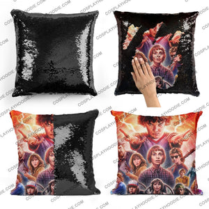 Stranger Things Sequin Pillow S4