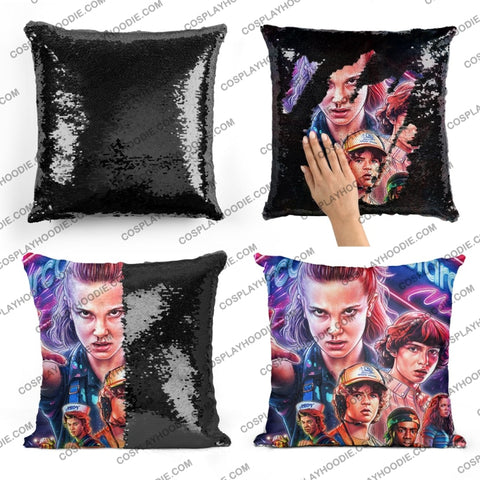 Stranger Things Sequin Pillow S5