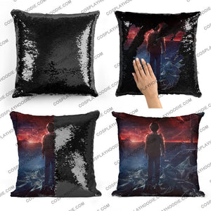 Stranger Things Sequin Pillow S6