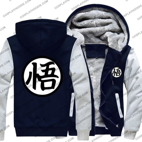 Anime Dragon Ball Z Goku Print Fleece Winter Hoodie Jacket Color2 / M