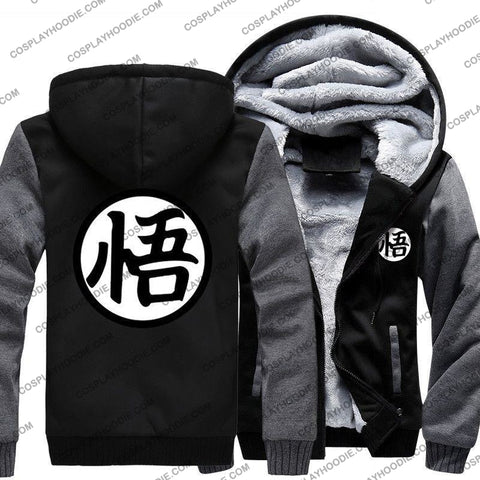 Anime Dragon Ball Z Goku Print Fleece Winter Hoodie Jacket Color4 / M