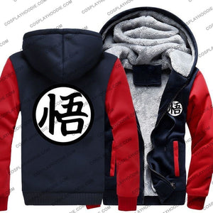 Anime Dragon Ball Z Goku Print Fleece Winter Hoodie Jacket Color1 / M