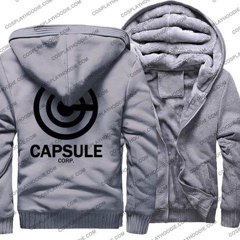 Dragon Ball Anime Capsule Corp Fleece Winter Hoodie Jacket Color2 / M