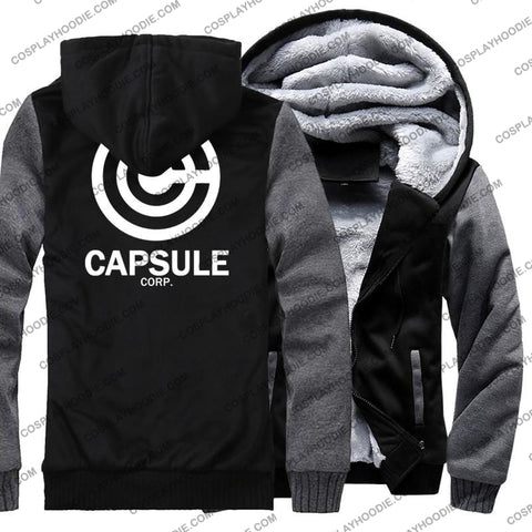 Dragon Ball Anime Capsule Corp Fleece Winter Hoodie Jacket Color3 / M