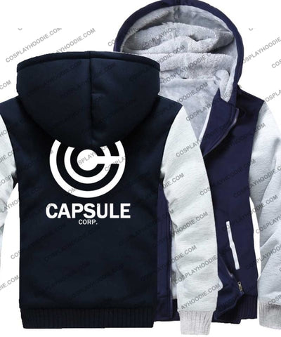 Dragon Ball Anime Capsule Corp Fleece Winter Hoodie Jacket Color5 / M