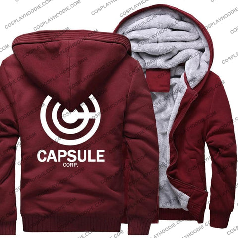 Dragon Ball Anime Capsule Corp Fleece Winter Hoodie Jacket Color6 / M