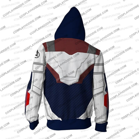 Image of The Avengers 4 Avengers: Endgame Quantum Suits Blue Suit Cosplay Hoodie Jacket