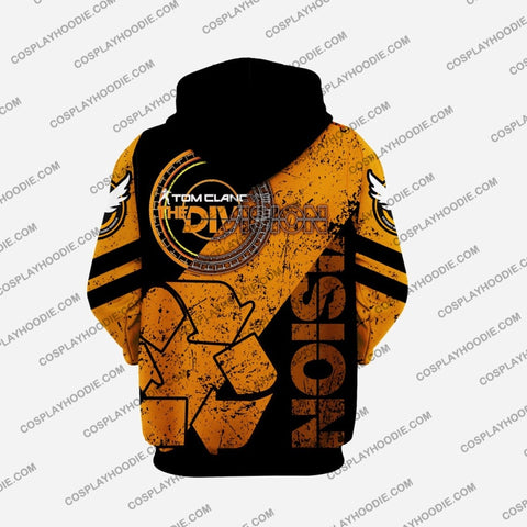 Image of The Division Cleaner Orange Cosplay Hoodie D3 Jacket