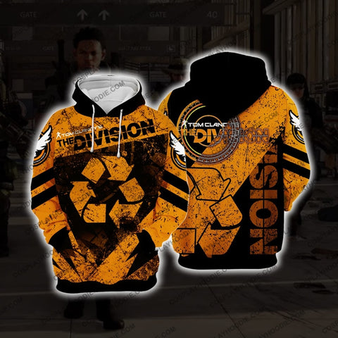 The Division Cleaner Orange Cosplay Hoodie D3 Jacket
