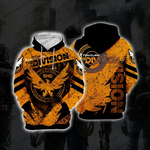 The Division Orange Cosplay Hoodie D2 Jacket