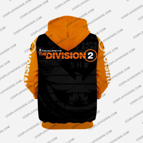 Image of The Division Orange With Number Cosplay Hoodie C2 Jacket