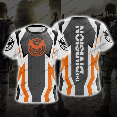 Image of The Division White And Orange Cosplay T-Shirt B1 T-Shirt