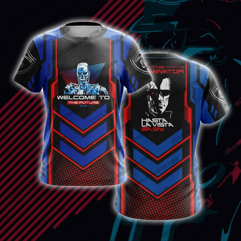 The Terminator Red And Blue T-Shirt T-Shirt