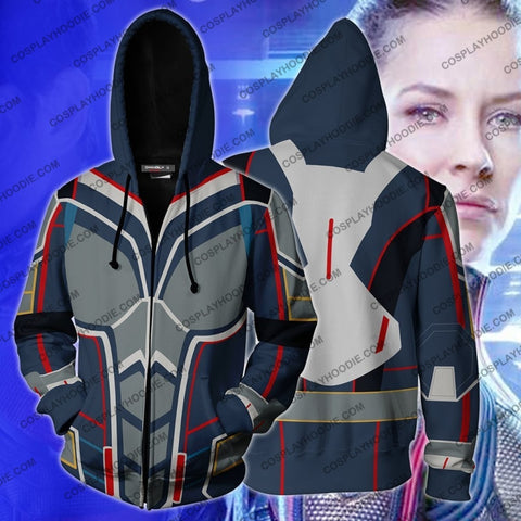 Image of The Wasp (Janet Van Dyne) Hoodie Cosplay Jacket Zip Up