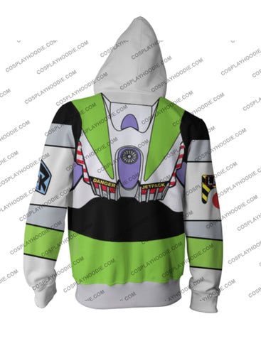 Image of Toy Story Buzz Lightyear Zip Up Hoodie Jacket Cosplay