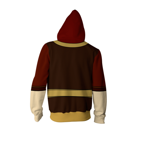 Image of Avatar The Last Airbender Zuko Hoodie Cosplay Jacket Zip Up