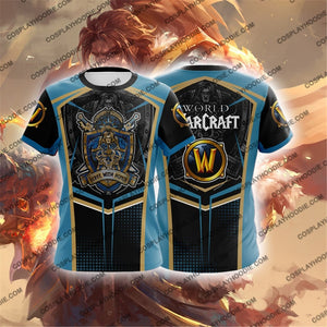World Of Warcraft Varian Wrynn Cosplay T-Shirt T-Shirt